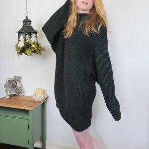 Zara KNIT Oversized Baggy Warm Sweater Dress S